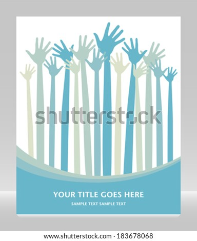 Fun hand design with copy space.  - stock vector