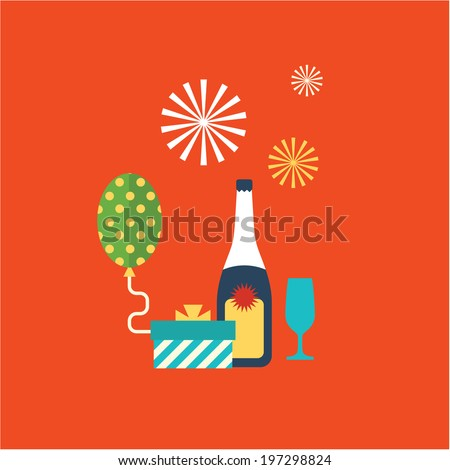fun illustration - stock vector