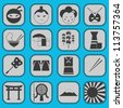 fun japanese icon pictogram collection set complete - stock vector