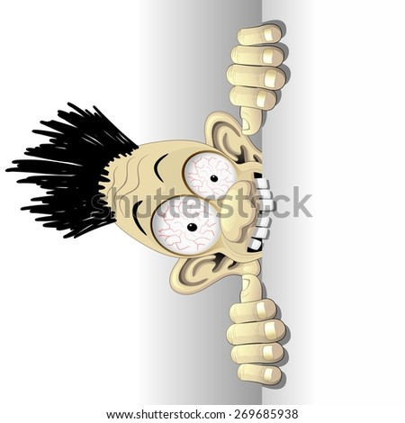 Fun Shocked Cartoon Character - stock vector