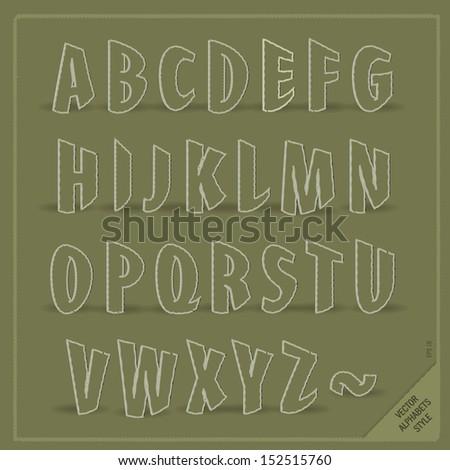 Fun vector alphabets. Use for design.  - stock vector