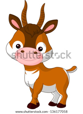 Fun zoo. Illustration of cute Antelope