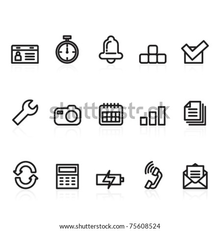 function and mobile icons - stock vector