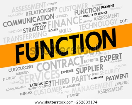 FUNCTION related items words cloud, business concept - stock vector