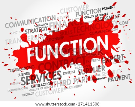 FUNCTION word cloud, business concept - stock vector