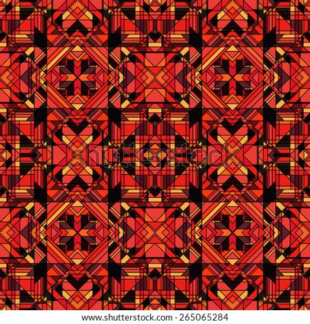 Funky Abstract Geometric Seamless Pattern