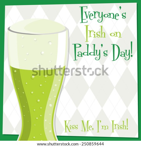 Funky bright St. Patrick's Day card in vector format. - stock vector