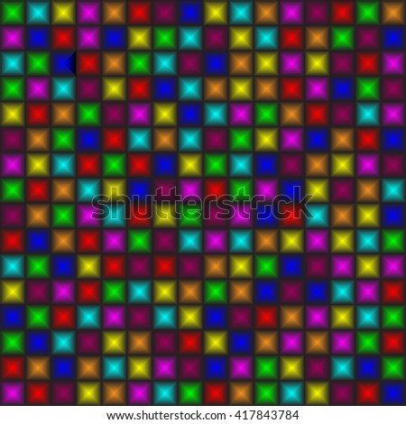 Funky colorful tileable 80s style vector wallpaper that repeats left, right, up and down - stock vector