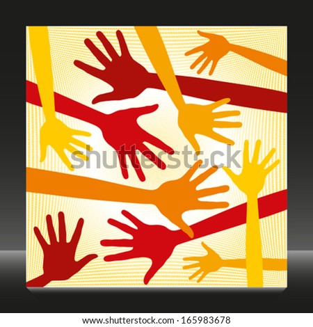 Funky hand pattern.  - stock vector