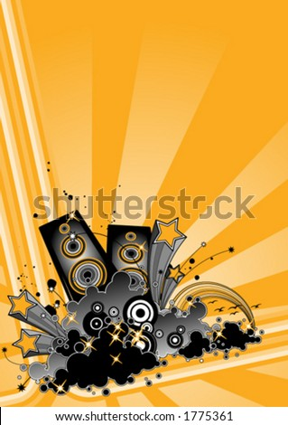Funky party design - stock vector