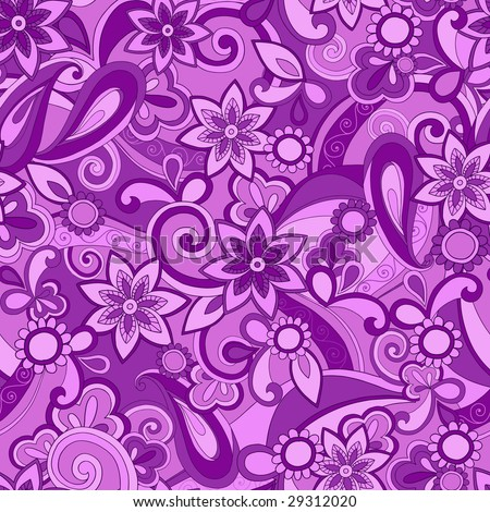 Funky Purple Pucci Seamless Repeat Pattern Vector Illustration - stock vector