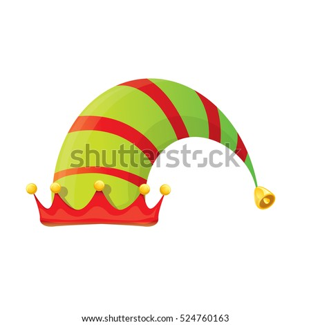 funky red green stripped cartoon christmas stock vector royalty