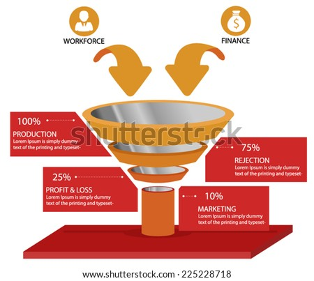 Funnel - stock vector
