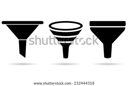 Funnel icon - stock vector