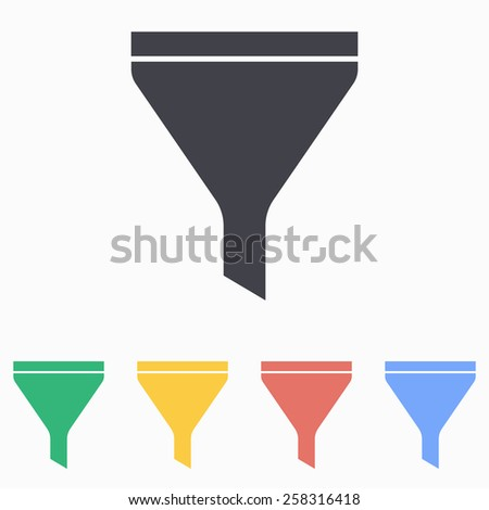 Funnel icon - stock vector