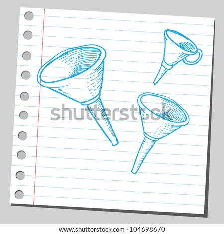 Funnels - stock vector