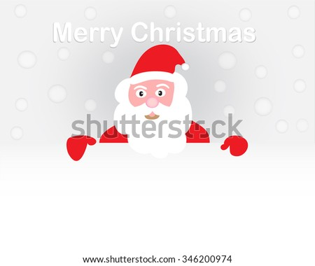 Funny and cute santa claus Christmas card,vector illustrator - stock vector