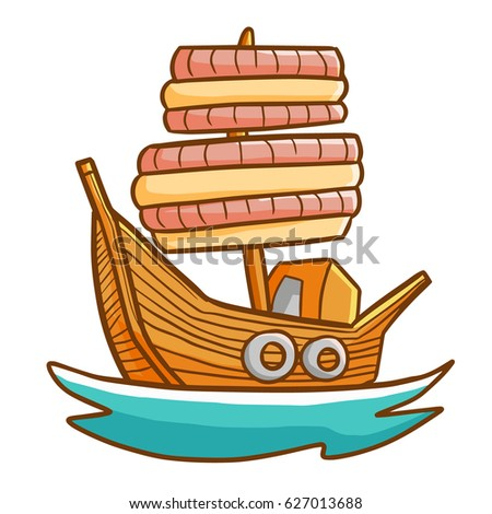 Funny And Great Wooden Ship Sailing