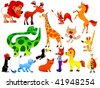 funny animals - stock vector