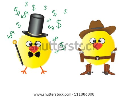 Funny aristocratic chick and cowboy chick