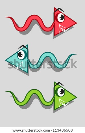 funny arrows set - stock vector