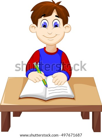 Boy Writing Stock Images Royalty Free Images Amp Vectors