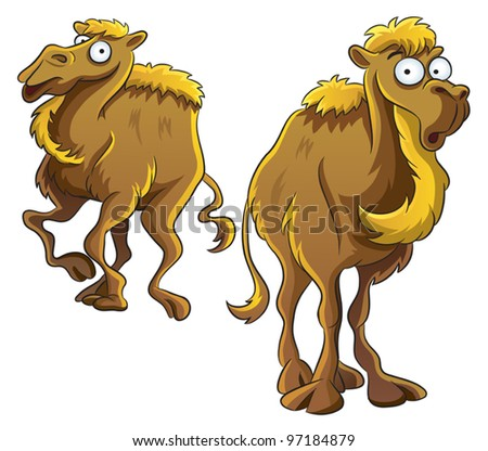 Funny Camel - stock vector