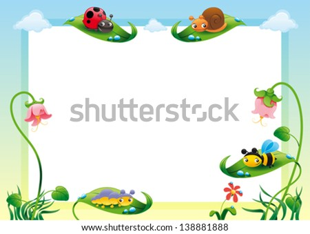 Funny card with empty space for text. Vector illustration, A3-A4-A5 sizes, proportioned. - stock vector