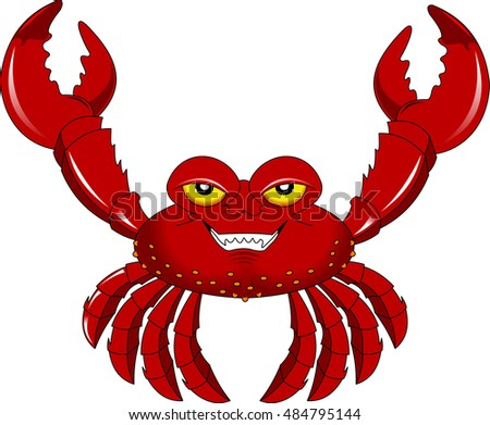 funny cartoon crab for you design, vector