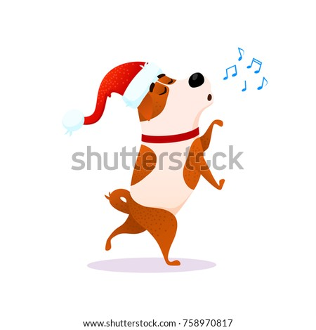 christmas cute cartoon characters singing stock images