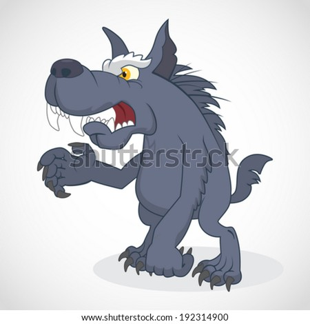 Funny cartoon Werewolf. Vector Illustration - stock vector