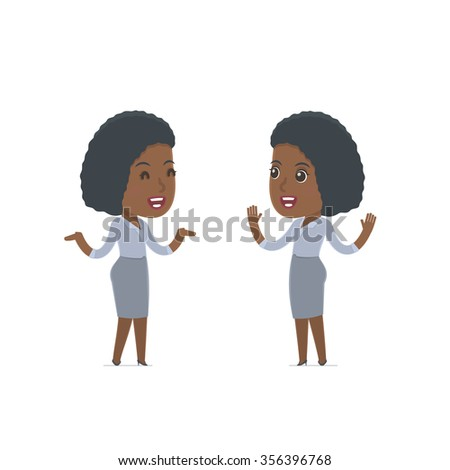 Funny Character Social Worker tells interesting story to his friend. Poses for interaction with other characters from this series - stock vector