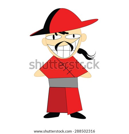 funny chinese man cartoon character stock vector 2018 288502316 rh shutterstock com chinese man cartoon pictures chinese man cartoon face