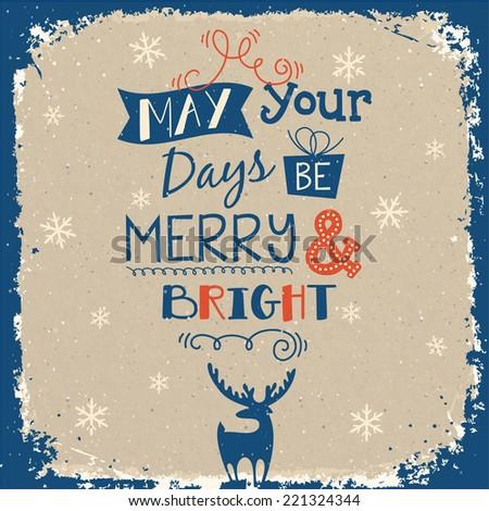 Funny christmas illustration - stock vector
