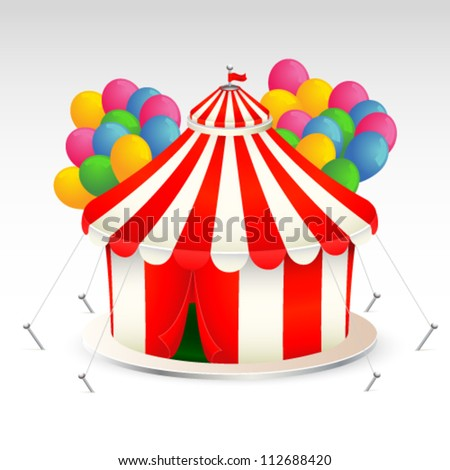 Funny circus tent vector illustration - stock vector