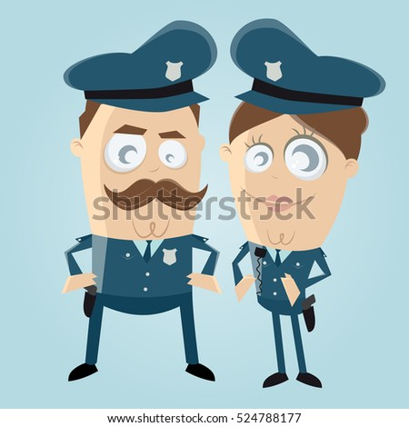 funny clipart of a police officer team