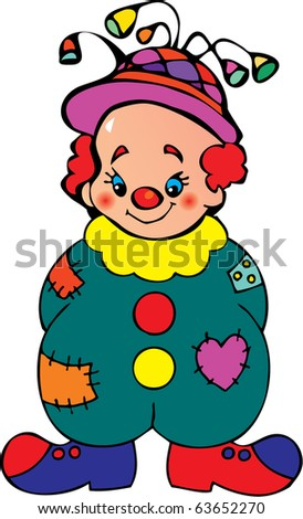 funny clown vector art funny clown with balloons in funny