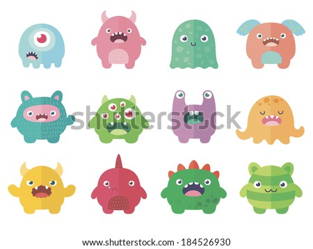Funny Colored Characters v.2 - stock vector