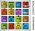 Funny colorful emotions. - stock