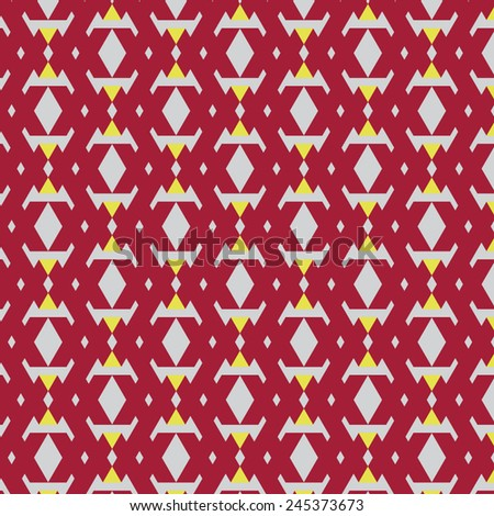 funny colorful geometric seamless pattern