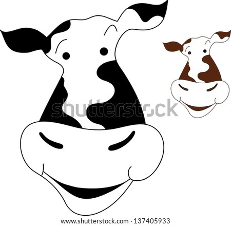 Funny cow vector illustration