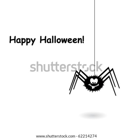 Funny crazy spider - stock vector