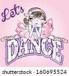 funny dancer cartoon - stock vector