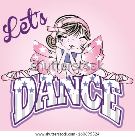 funny dancer cartoon - stock vector