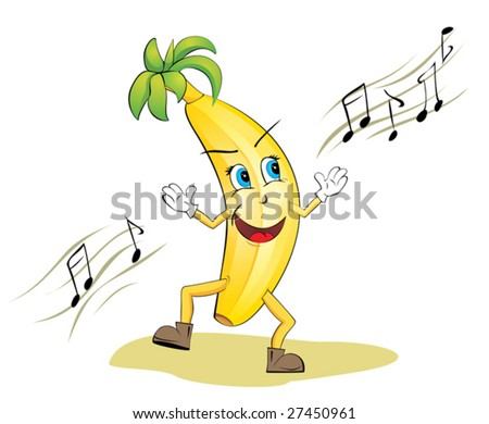 Funny Dancing Banana - Vector