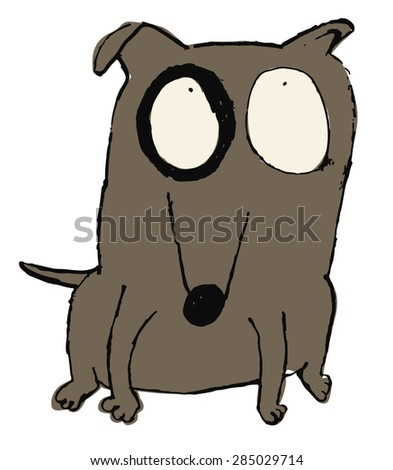 funny dog icon vector - stock vector