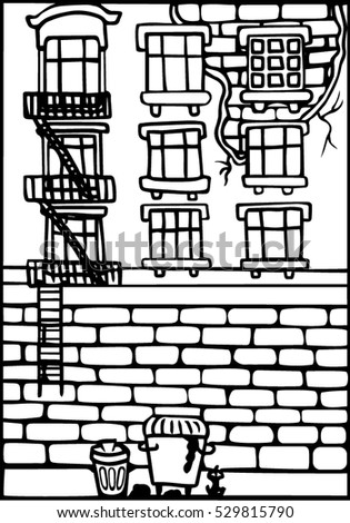coloring pages of brick walls - photo#11