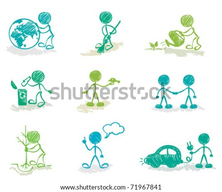 Funny Ecology - stock vector