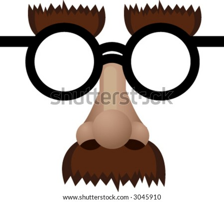 Funny face mask illustration - stock vector