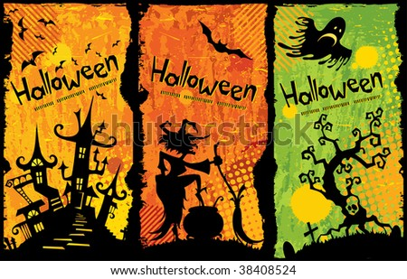 Funny Halloween background